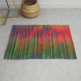 Digital Colorful Lines Rug