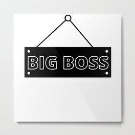Big Boss Metal Print