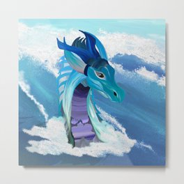 Sea Dragon - Ocean Waves Metal Print