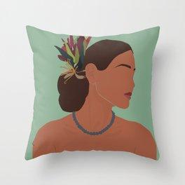 Floral Profile Throw Pillow