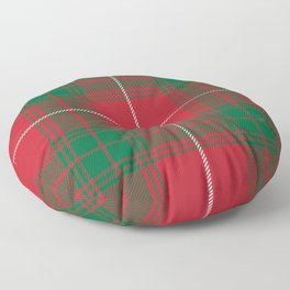 Classic Christmas Green and Red Plaid Tartan Pattern Floor Pillow