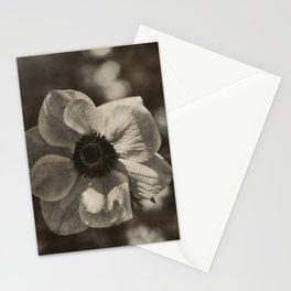 Anemone coronaria - Sepia Stationery Cards