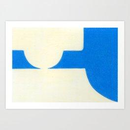 Driveway in Blue Art Print
