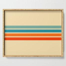 Ienao - Classic 70s Retro Stripes Serving Tray