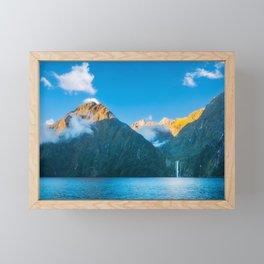 Milford Sound wild beauty, New Zealand. Framed Mini Art Print