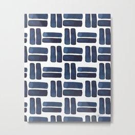 'bold brush strokes' - pattern Metal Print