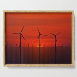 Wind Farms (Digital Art) Serving Tray