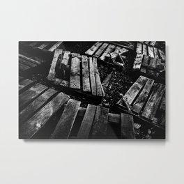 Crumbled Metal Print
