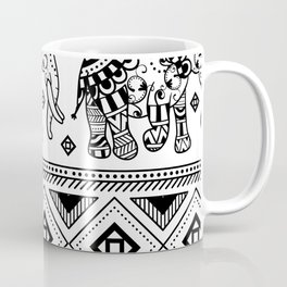 Bohemian Elephant Pattern Decoration Coffee Mug
