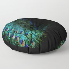 Peacock Details Floor Pillow