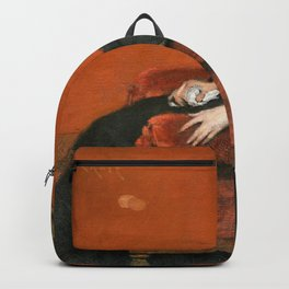 William Merritt Chase - The Young Orphan - Digital Remastered Edition Backpack