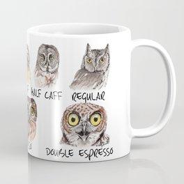 Owl Caffeine Meter -  funny owl coffee Coffee Mug