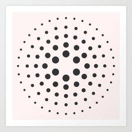 Mid-Century Modern Art - Bubblegum Spiral Dots Art Print