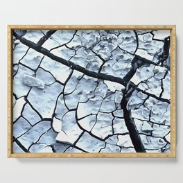Cracked Dreams in Blue Serving Tray