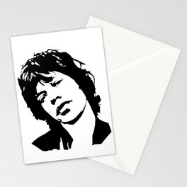 "BEAUTIFUL GIFTS OF Sir Michael Philip ""Mick"" JaggerBlack White Face, Music, Art Stationery Cards"