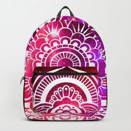 Galaxy Mandala Red Fuchsia Purple Pink Backpack
