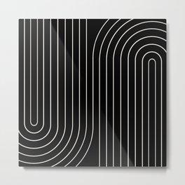 Minimal Line Curvature II Metal Print