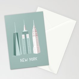 New York skyscrapers Stationery Cards