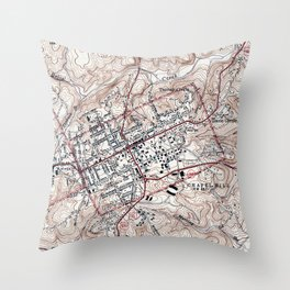 Vintage Map of Chapel Hill North Carolina (1946) Throw Pillow