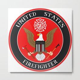 Firefighter Symbol Metal Print