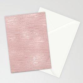 Metallic Rose Gold Blush Stationery Cards