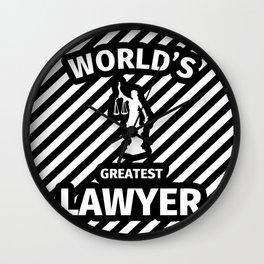 World's Greatest Lawyer Wall Clock