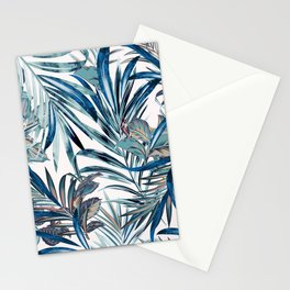 Floral fashion tropical vector pattern with palm leaves in watercolor style Stationery Cards