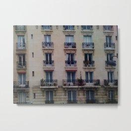 Paris: Apartment Building Metal Print