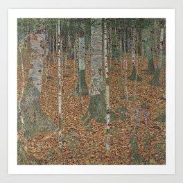 Gustav Klimt - Birch Forest Art Print