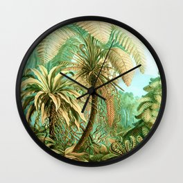 Vintage Tropical #society6 #buyart #painting Wall Clock