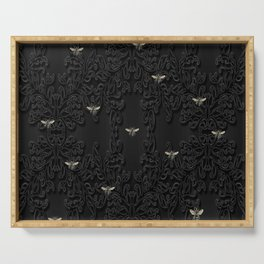 Black Bees Serving Tray