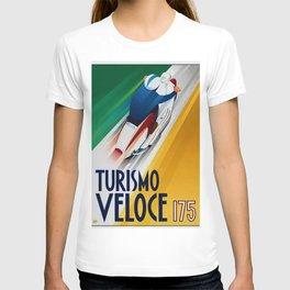 Vintage Turismo Veloce 175 - Lambretta TV175 Advertisement Poster T-shirt