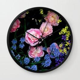 Mixed Flowers Wall Clock