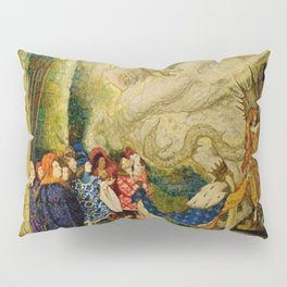 Sleeping Beauty The Aged King Pleads with the Good-Fairy Fairy Tale Portrait by Leon Bakst Pillow Sham