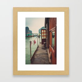 Fisherman's Backyard Framed Art Print