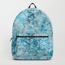 Watercolor Texture Turquoise And Drawing Circles Backpack
