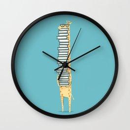 A Book Lover (blue) Wall Clock