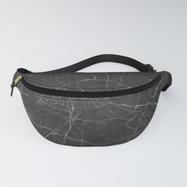 Silver Berlin City Map Fanny Pack