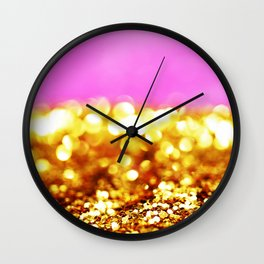 Pink Gold Wall Clock