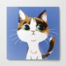 Cat Lover Tabby Cat Metal Print
