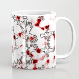 Alien Mandala Silver and Red Plasma Coffee Mug