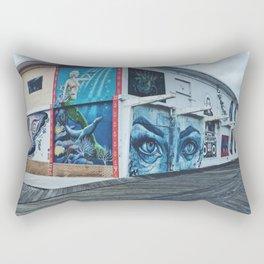 Corner Murals Rectangular Pillow