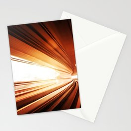 speed train background Stationery Cards