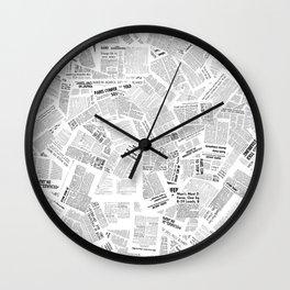 Newspaper Print Wall Clock