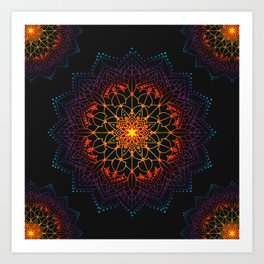 Mandala Shambala Spiritual Zen Bohemian Hippie Yoga Mantra Meditation Kunstdrucke