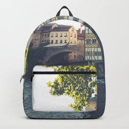 Old Town Hall of Bamberg Bavaria Germany by the river Regnitz Backpack