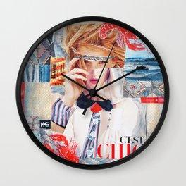 C'est chic Wall Clock