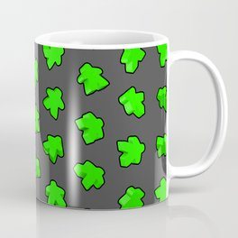Green Game Meeples Coffee Mug