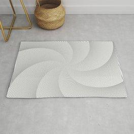 Op art spiral wind Rug