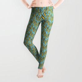 Dip Pen Nibs (Blue and Yellow) Leggings